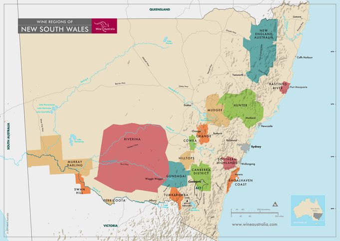 New south Wales Wine regions